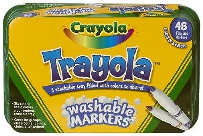 Crayola 48ct Trayola Washable Markers Fine by Crayola