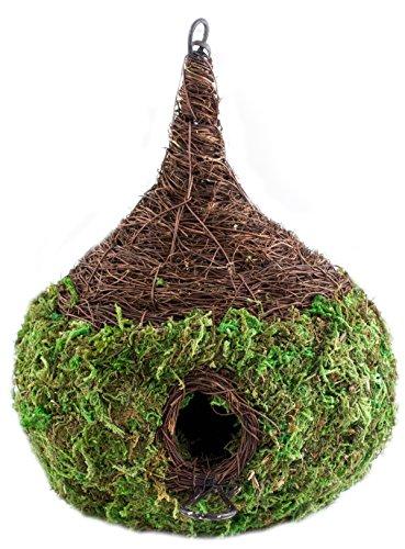 Super Moss (56050) Raindrop Woven Birdhouse Medium, 9.5