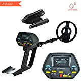 Metal Detector MD-4080 Waterproof Pinpoint Upgraded Treasure Mountain Hunting with Shovel(Black)