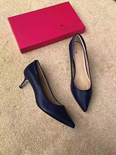 Tacón De De De Zapatos tacón Blue Mujer Mujer con zapatos Aguja PU Yukun Alto De de Zapatos Tacón De Zapatos alto Mujeres Cómodo ZaCwTqx
