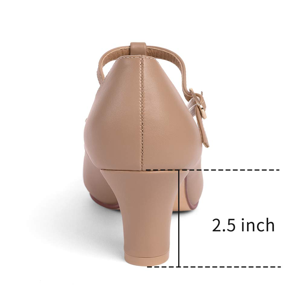 STELLE 2.5 T Strap Character Dance Shoes for Women Girls