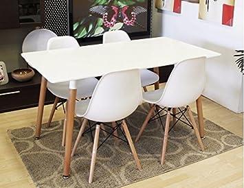 Conjunto de mesa sillas Tower blancas