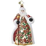 Christopher Radko Poinsettia Passion Santa Claus Christmas Ornament