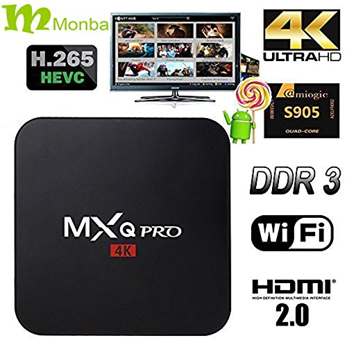 [2016 new] Monba M-BOX PRO TV BOX fully loaded Kodi 16.0 XBMC Newest CPU Amlogic S905 Quad Core 1GB/8GB Wifi LAN...