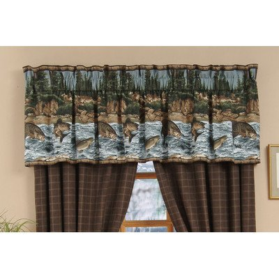 River Fishing Cotton Curtain Valance (Fish Valance)
