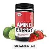 OPTIMUM NUTRITION ESSENTIAL AMINO ENERGY, Strawberry Lime, Keto Friendly Preworkout and Essential Amino Acids with Green Tea and Green Coffee Extract, 30 Servings