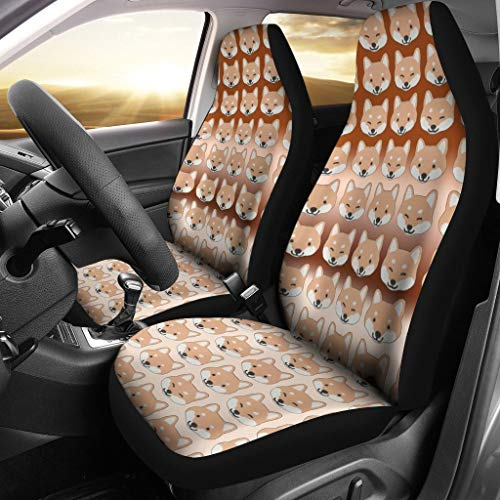 The Breed Lovers Zone Shiba Inu Patterns Print Car Seat Covers