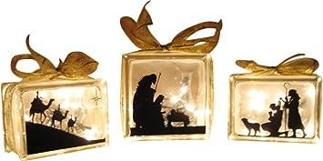Amazoncom VINYL DECAL Glass Block NativityVinyl Only Home - Nativity vinyl decal for glass block light
