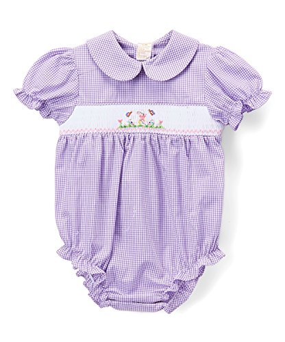 Easter Bunny Bubble - Rosalina Purple Gingham Checked Easter Bunny Bubble 9m