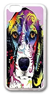 Creative beagle TPU Case Cover for iphone 6 plus and iphone 6 plus 5.5 inch Transparent