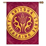NCAA Arizona State University 87963013 Vertical Flag, Small, Black