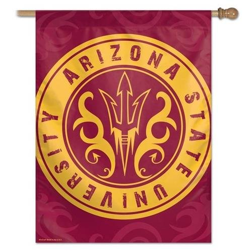 NCAA Arizona State University 87963013 Vertical Flag, Small, Black by WinCraft