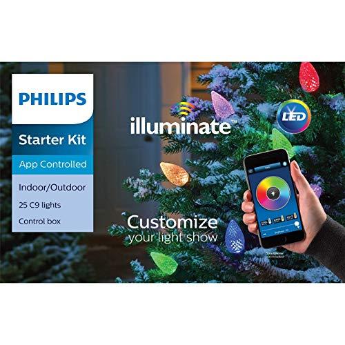 Philips Illuminate 25 C9 Faceted LED Lights Starter Kit with Smartphone App Controlled                          (Illuminate Starter Kit)