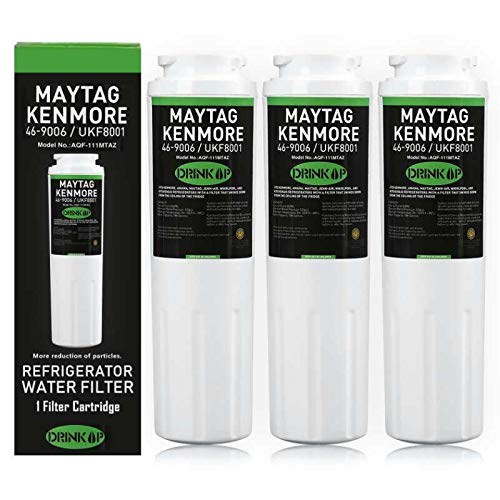 UKF8001 Water Filter Compatible Maytag UKF8001 UKF8001AXX UKF8001P, PUR Jenn-Air UKF8001, EDR4RXD1, Whirlpool 4396395, EveryDrop Filter 4, Puriclean II, 469006 (Pack of 3) (Maytag Water Pur Ukf8001 Filter)