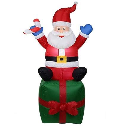 Amazon.com: ZBW - Caja de regalo hinchable de Navidad con ...