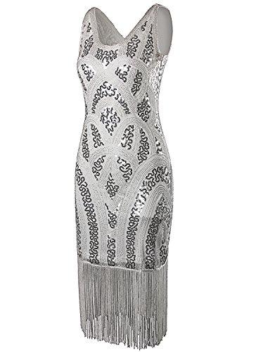 Vijiv Vintage Inspired Embellished Flapper