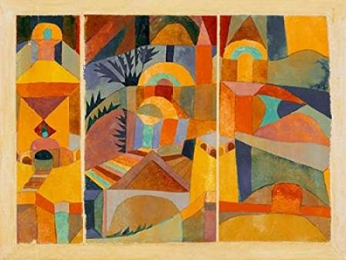 Temple Gardens Poster Print by Paul Klee (22 x 28)