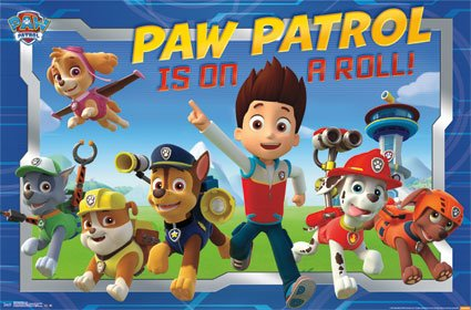 paw patrol posters for bedrooms