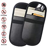 ZATAYE Car Key Fob Signal Blocking Pouch Bag - Car Keyless Signal Blocker Faraday Cage,RF Signal Shielding Pouch Bag for Car Key FOB,Antitheft Lock Devices,Fob Protector WiFi/GSM/LTE/NFC/RF Blocker