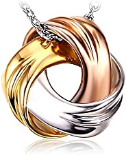 J.Rosée Silver Necklace, Gifts for Women 925 Sterling Silver Pendant Necklace Fine Jewelry Spiral Galaxy 18