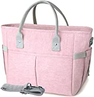 KIPBELIF Insulated Lunch Bags for Women - Large Tote Adult Lunch Box for Women with Shoulder Strap, Side Pocke