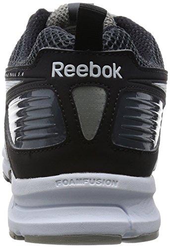 Reebok Triplehall 5.0 Zapatillas de running, Hombre, Gris / Negro / Blanco