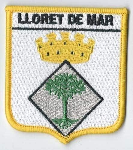 LLORET DE MAR ESPAÑA ESCUDO PARCHE BORDADO DE BANDERAS DEL MUNDO ...