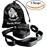 *SUMMER SALE* XL Hammock Tree Straps. 30+2 Loops. 600 Pound Capacity, No Stretch, Ultralight, Super Strong, Tree Friendly, Fast Easy Setup. Hammock Camping. Accessories for Eno, etc. WILL NOT STRETCH