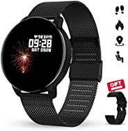 GOKOO Smart Watch with Heart Rate Sleep Monitor Full Touch Screen Fitness Tracker Music Remote Camera Control