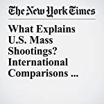 What Explains U.S. Mass Shootings? International Comparisons Suggest an Answer | Max Fisher,Josh Keller