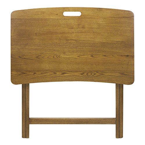 American trails arizona red oak folding tv tray table for A p furniture trail