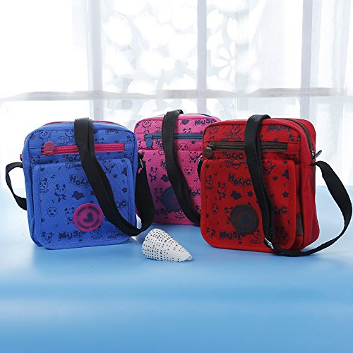 Phone for Cartoon Girls Shoulder Rose red Cross Bag Portable Daliuing Makeup Women Printed Double Clutch Zipper Pouch Bag Blue Bag Crossbody qXZ5BT0w