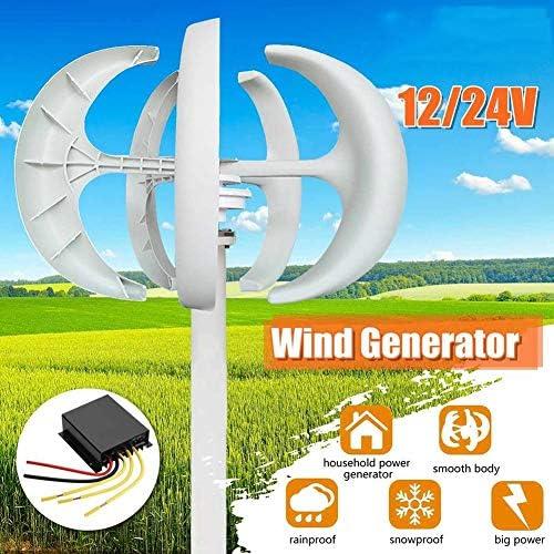 Turbinengenerator 2020 800W Windmühle Energieanlagen 12 / 24V Laterne 5-Blatt-Wind-Turbinen-Generator Haushaltsstromerzeuger Controller For Solar-Straßenbeleuchtung, Boot, Boot cyj ( Size : 12V )