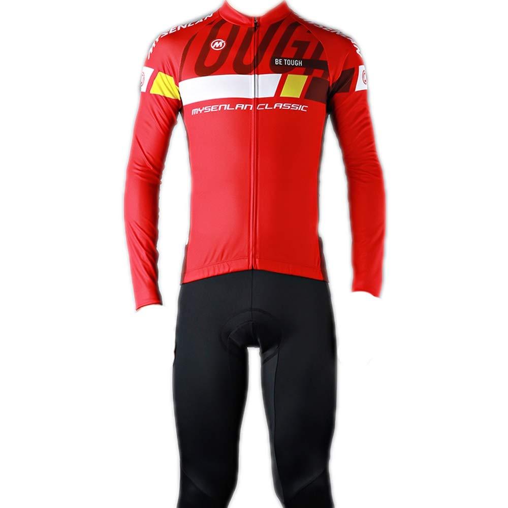 サイクリング春と秋のマウンテンバイクの長袖セットロードバイクバイク衣料品ジャージー B XXXL