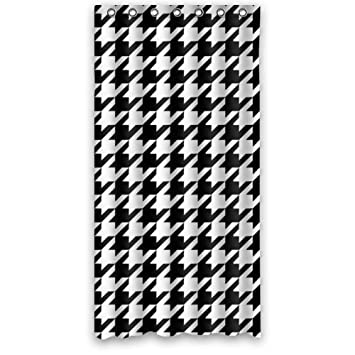 Curtains Ideas 36 wide shower curtain : Amazon.com: Houndstooth Shower Curtain - Awesome Black White ...