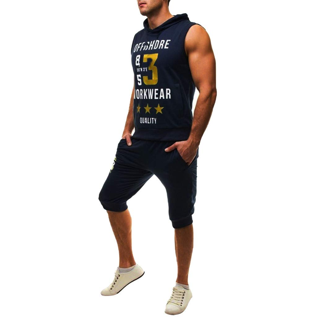 HTHJSCO T-Shirt Mens Casual Slim Fit Tank Top Lightweight Sleeveless Summer Clothes Basic Designed