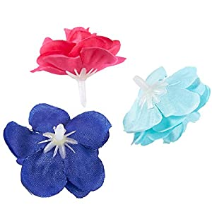 Juvale Artificial Flower Heads - 60-Pack Fabric Fake Flowers for Wedding Decorations, Baby Showers, DIY Crafts, Mixed Colors, 1.5 x 1.5 x 1.2 Inches 5
