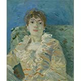 Canvas Prints Of Oil Painting ' Berthe Morisot - Girl On A Divan,about 1885 ' , 8 x 10 inch / 20 x 24 cm , High Quality Polyster Canvas Is For Gifts And Bed Room, Kitchen And Living Room Decoration