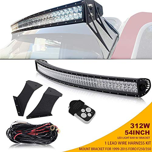 TURBOSII Curved 54 In Offroad Led Light Bar W/Upper, used for sale  Delivered anywhere in Canada