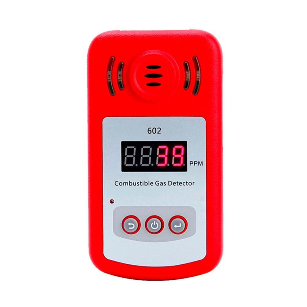 Umiwe Gas Alarm Detector, LPG/Natural Gas/Coal Gas Dector Sensor Gas Leakage Detector Alarm with Sound Warning and LED Display for House Kitchen Restaurant Hotel School Warehouse