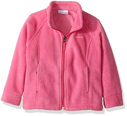 Columbia girls Benton Springs Fleece Jacket, Pink Ice, 4T,Toddler Girls (Fleece Jacket Kids)