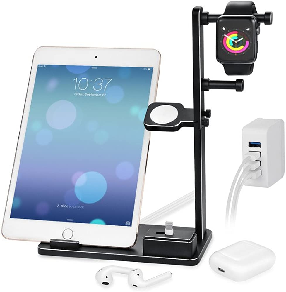 Tharv❤6 in 1 Smart Charger Stand Station Aluminum Charging Stand Dock Station