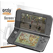 3DSXL Screen Protectors, 6PCS - Orzly 3-in-1 Dual Screen Protector Pack (3 Top + 3 Bottom) for both Original & New Versions of Nintendo 3DS XL - Ultra Clear Transparent PET Film Screen Protectors