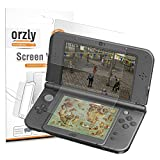 #4: 3DSXL Screen Protectors, 6PCS - Orzly 3-in-1 Dual Screen Protector Pack (3 Top + 3 Bottom) for both Original & New Versions of Nintendo 3DS XL - Ultra Clear Transparent PET Film Screen Protectors