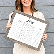 Personalized Child Job Chart | Homeschool Schedule | Dry Erase 11x14 Framed Task Chart