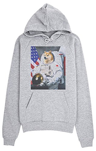 Proud Astronaut Doge With Flag Women's Hoodie Pullover