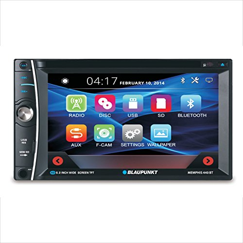 Blaupunkt Memphis 6.2-Inch in Dash Touch Screen DVD Multimedia Car Stereo Receiver with Bluetooth and Remote Control by Blaupunkt