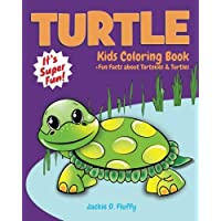 Turtle Kids Coloring Book +Fun Facts about Tortoises & Turtles: Children Activity Book for Boys & Girls Age 3-8, with 30 Super Fun Coloring Pages of Volume 5 (Gifted Kids Coloring Animals)