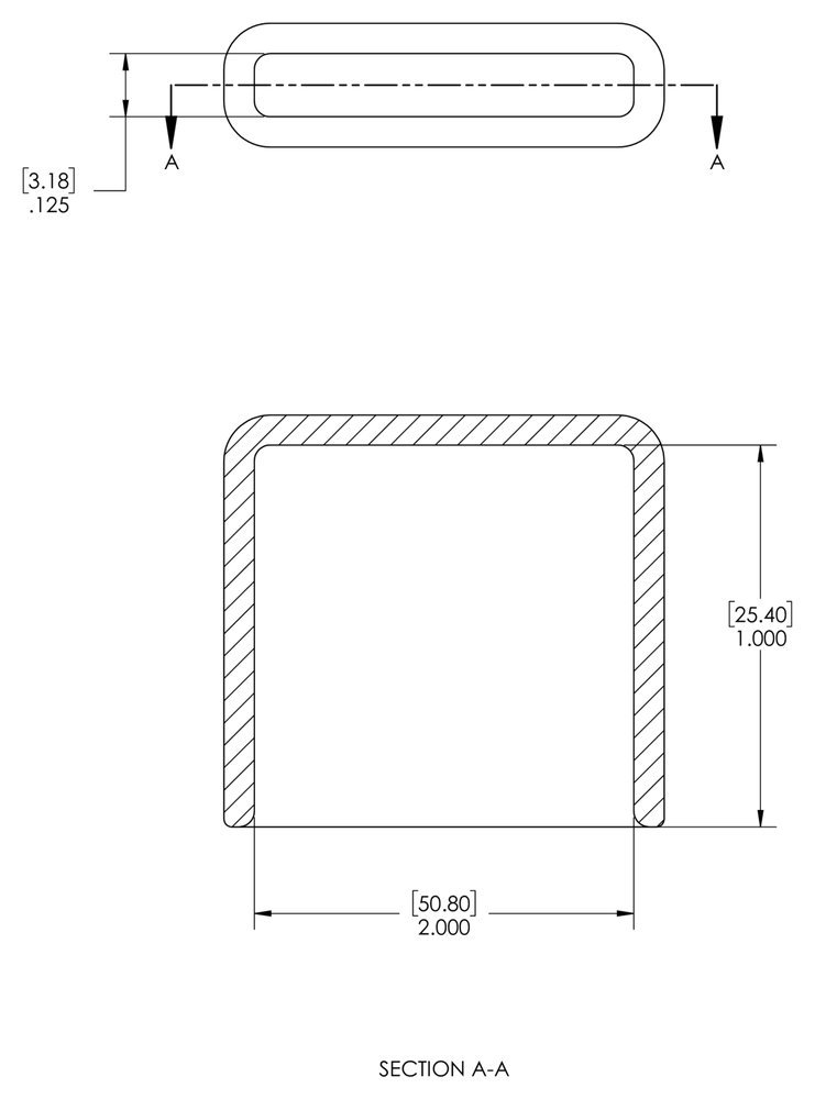 Pack of 300 Length 1.000 ID 1.250 Caplugs 99190527 Plastic Rectangular Finishing Cap with Flat End Grip Vinyl VRF-187X1250-16 Black