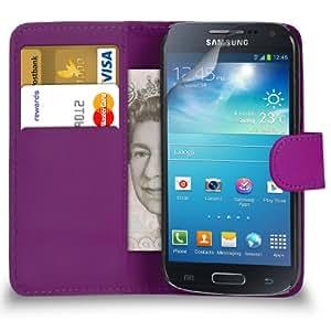 Mobi Plus Samsung Galaxy S4 Mini i9190 Verde Cartera de cuero del caso del tirón de la cubierta Pouch + 2 x Protector de pantalla y paño de pulido